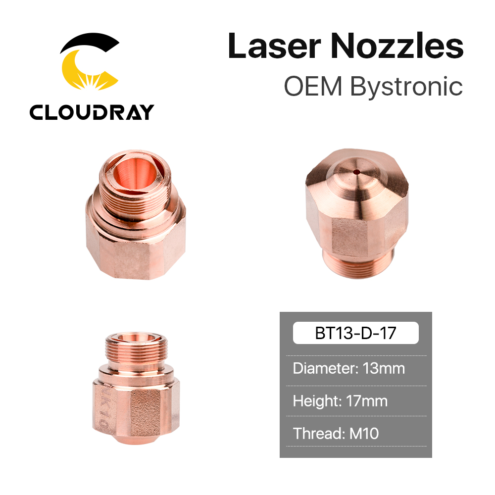 Cloudray OEM Bystronic NK Series Dia.13mm M10 Laser Nozzle Double Layers For Fiber Laser Cutting Head