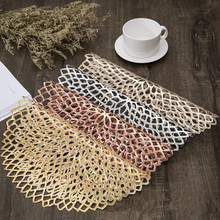 Placemat Coaster-Pads Dining-Table Home-Decor Plastic Baroque Mats Table-Bowl Insulation