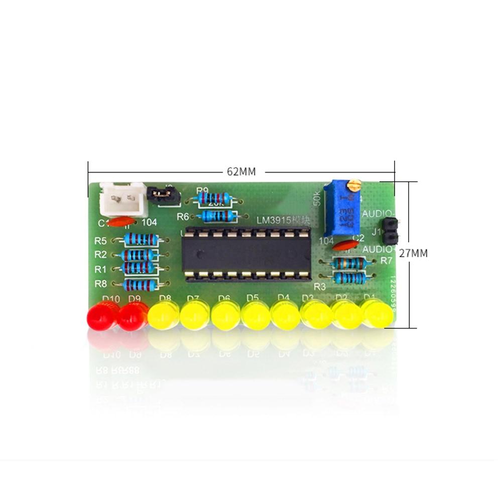 Taidacent 5 Pc 10 Segment Audio Level Indicator LM3915 Kit DIY Electronic Welding Training Level Indicator Kit Audible Indicator