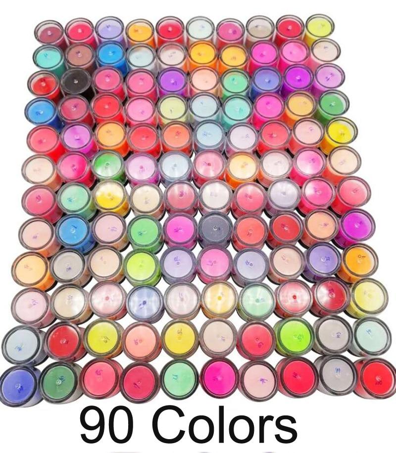 90Jars (10g/jar) fast dry nail dipping powder acrylic French nails 3 in 1 match color gel polish nail lacuqer dip powder MP9