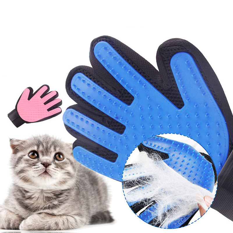 Pet Glove Cat Combs Pet Soft Silicone Dog Pet Brush Grooming Glove Cat Cleaning Supplies Pet Grooming Gloves