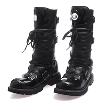 High Quality Genuine Leather Men high Boots Black Military Tactical Army botas Shoes