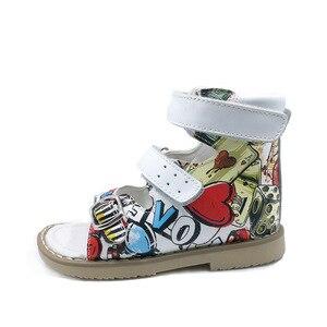 Image 4 - Ortoluckland çocuk sandaletleri ortopedik ayakkabılar çocuklar için erkek deri okul ayakkabısı kızlar burnu açık yaz sandalet bebek rahat ayakkabı