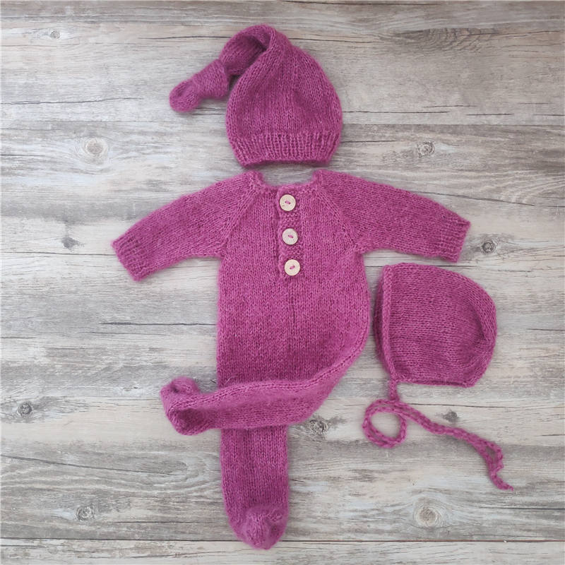 Реквизит для фотосъемки новорожденных, детский мохеровый комбинезон, костюмы с фотографиями фото детей 6