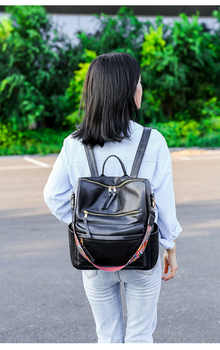 New Western Style Women Backpack High Quality Vintage PU Leather Knapsack Packsack Lady Leisure Female Travel Schoolbag Bag R637