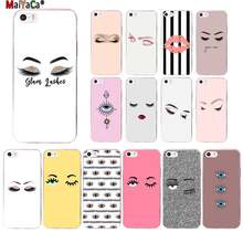 MaiYaCa eyelash Makeup Lip TPU Soft fundas Phone Case Cover for Apple iPhone 11 pro 8 7 6 6S Plus X XS MAX 5 5S SE XR cover(China)
