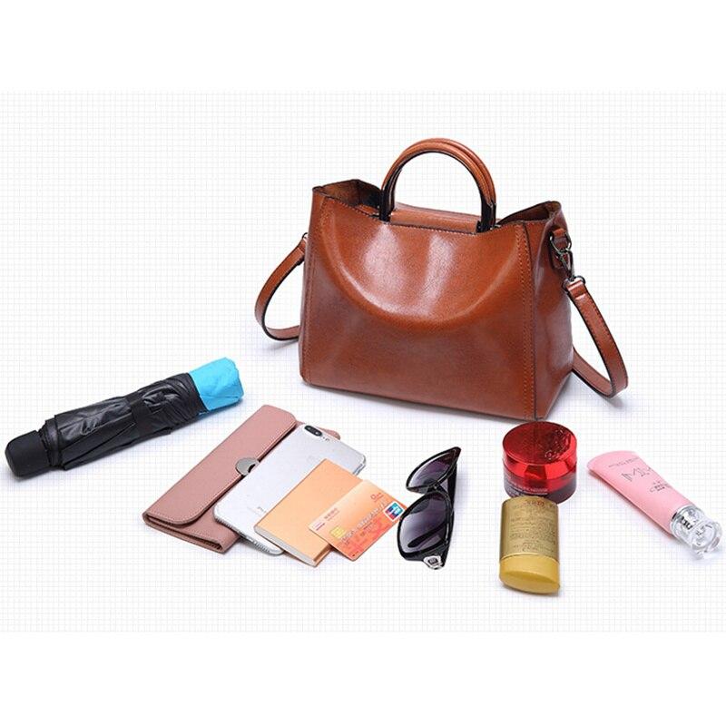 Image 5 - Women Vintage Leather Handbags For Woman Shoulder bag Designer  High Quality Messenger Crossbody Bags 2019 Ladies Luxury Hand  bagShoulder Bags