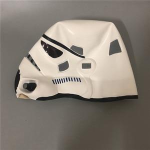 Image 3 - Movie Darth Vader Cosplay Mask Latex Stormtrooper Darth Vader Mandalorian Helmet Kylo Ren The Storm Troops Costume Props