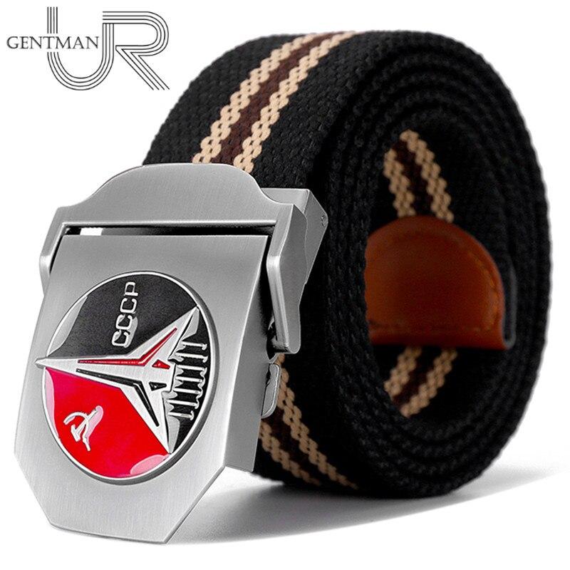 New Men & Women High Quality Belt 3D Soviet Space Flight Patriotic Canvas Belt Soviet Memory CCCP Luxury Jeans Tactical Belts