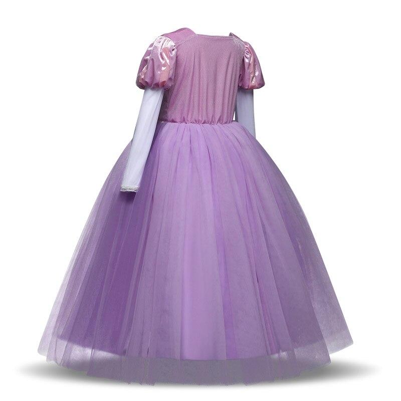 Long Sleeve Girls Christmas Dress Princess Dress up Halloween Party Gown Cartoon Character Cosplay Costume for Kids Children 5