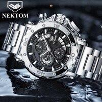Casual Männer Sport Uhr Top Marke Edelstahl Wasserdicht Chronograph Uhr Mode-Business Männer Armbanduhr Militär Uhren