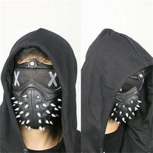 Игра Watch Dogs 2 WD2 маска Маркус Холлоуэй гаечный ключ Косплей заклёпка маска для лица половина лица ПВХ пластиковая маска косплей-реквизиты для вечеринки