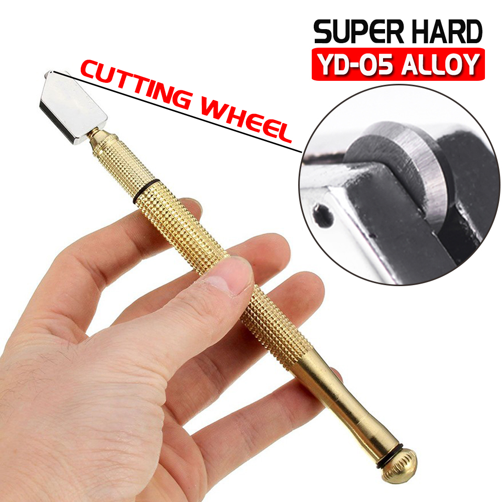 Professional Glass Cutter With Tungsten Carbide Precision  Mirror & Stained Glasses D40