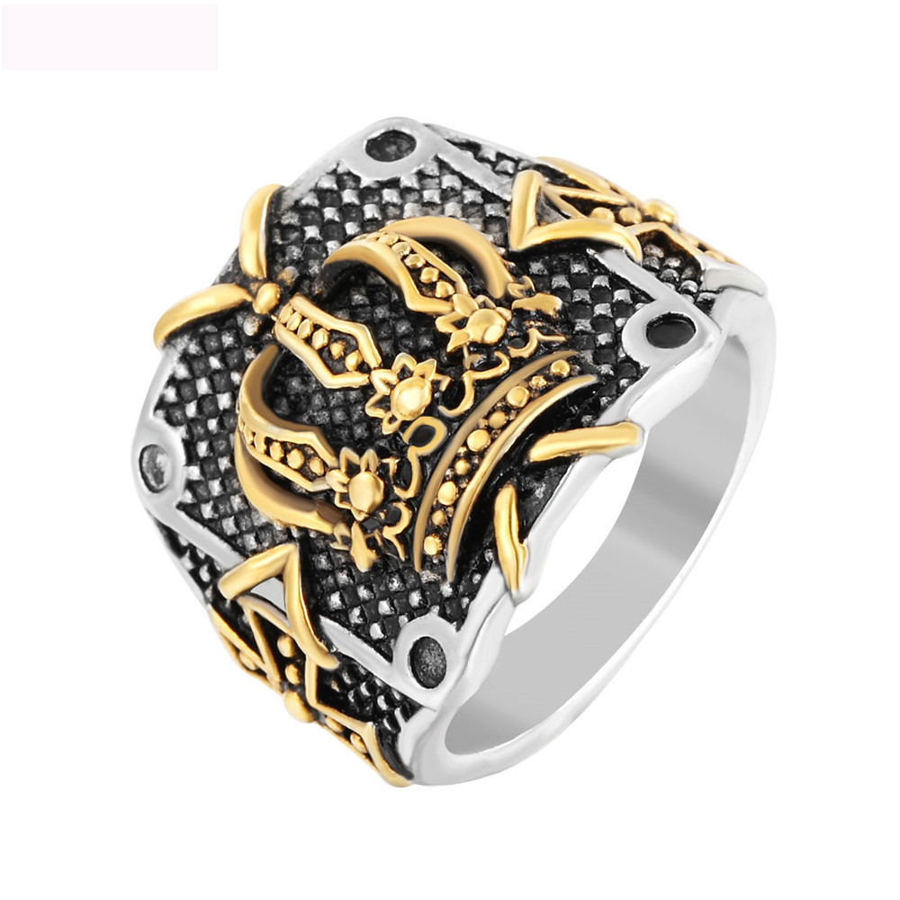Luxury New 316L Titanium Steel Nails Rings Crown Finger  For Men Brand Jewelry Free Shipping