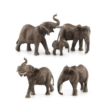 Hot Sell Plastic Zoo Animal Figure Elephant Giraffe Kids Toy Lovely Animal Model Toys Set Gift For Children Kid Gifts image
