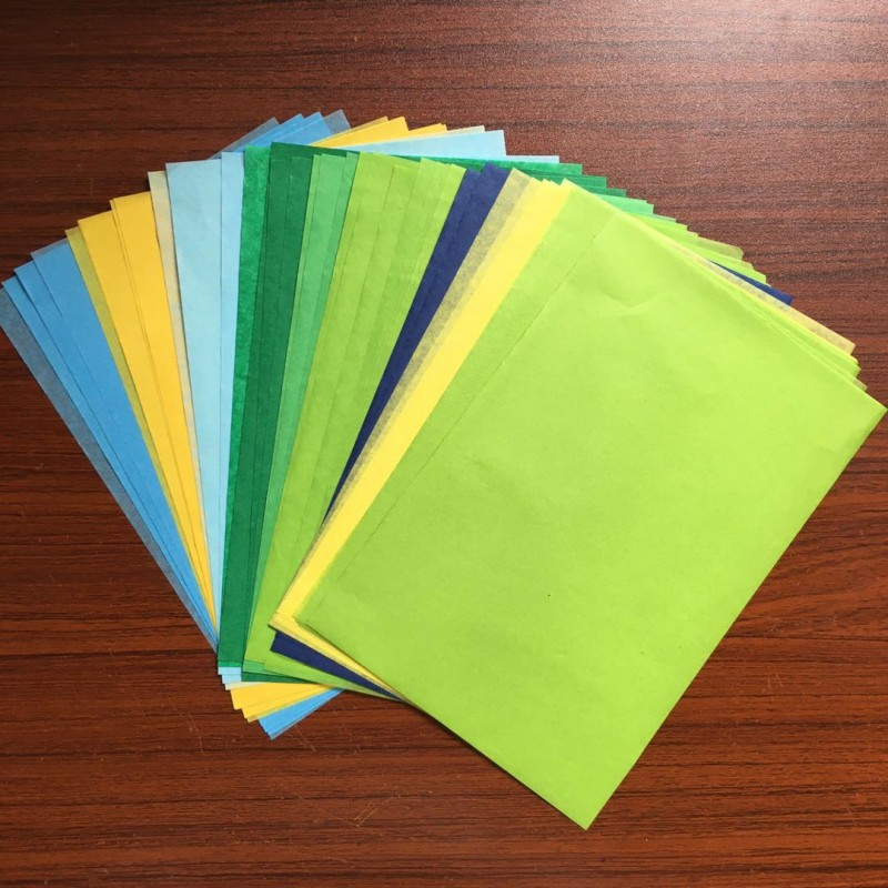 100sheet/bag A5 Retro Multicolor Wrapping Papers Floral Gift Packaging Material 3