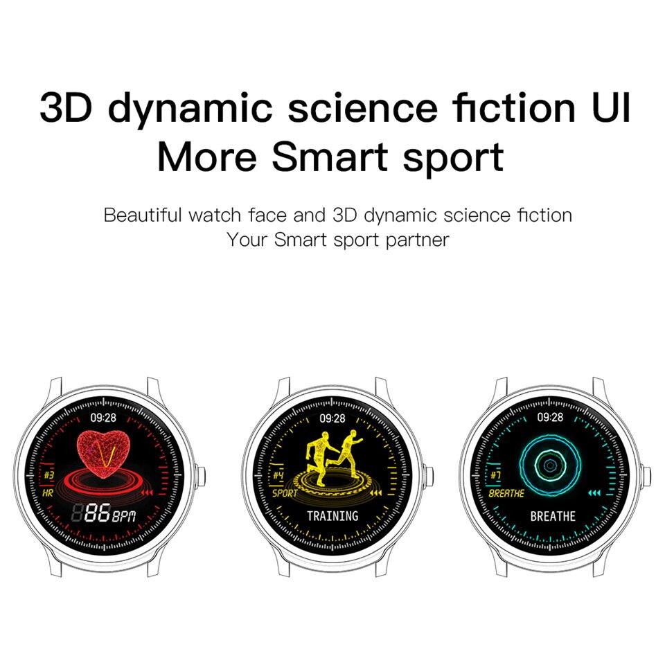 SN80 Bracelet intelligent plein écran tactile montre intelligente moniteur de fréquence cardiaque Fitness étanche Sport Tracker Bracelet smartwatch bande - 4