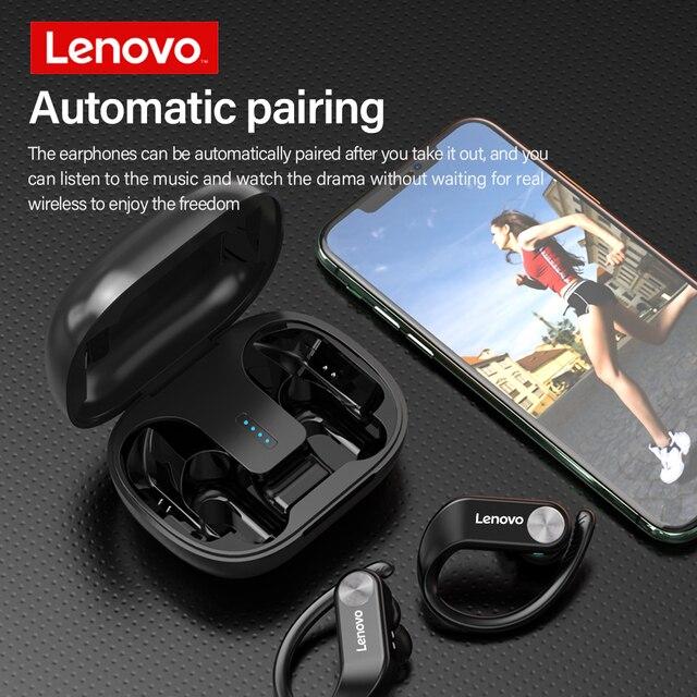 Lenovo TWS Bluetooth 5.0 Headphone Wireless Sports Earphone IPX5 Waterproof Low Gaming Delay Headset with Battery Display 6