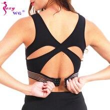 SEXYWG Underwear Sexy Cross Strap Gym Shirt Sports Bra Women Wireless Yoga Bras