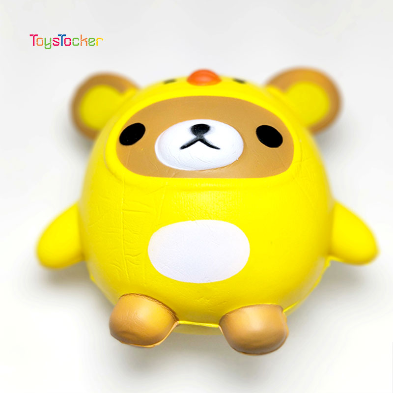 Yellow Bear Modeling Squishy Slow Rising Soft Squeeze Toy Phone Strap Scented Relieve Stress Funny Kid Xmas Gift