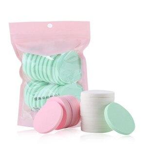 Image 2 - 20pcs Makeup Sponge Powder Puff Foundation Cosmetic Facial Sponges Soft Powder Puff for Beauty Tool Make up cotton Random Color