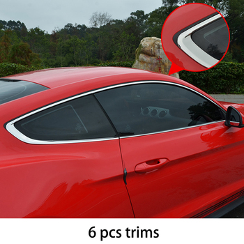 lsrtw2017 304 stainless steel car window trims for ford mustang 2015 2016 2017 2018 6th generation