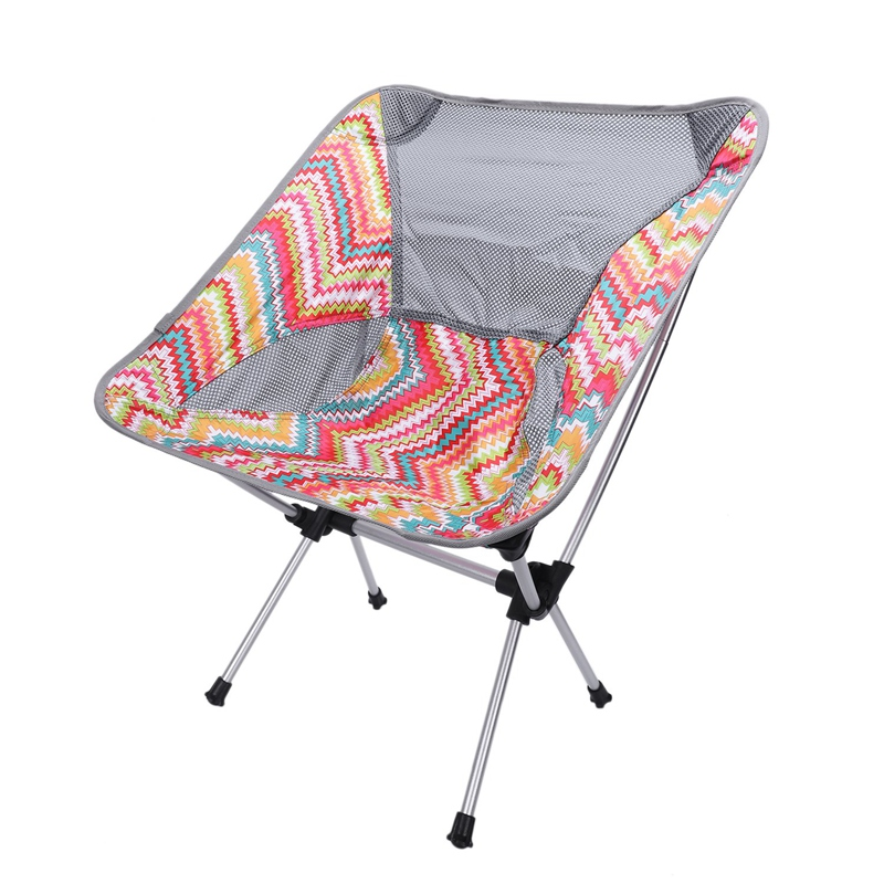 Ultralight Foldable Chair Aluminum Alloy Outdoor Camping Fishing Travelling Chair with Carry Bag Mesh Patchwork Picnic Chair