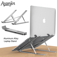 Laptop Stand Aluminum Alloy Height Adjustable Fold Portable Ergonomic Notebook to 15.6 inch For MacBook Air Pro Laptop Holder