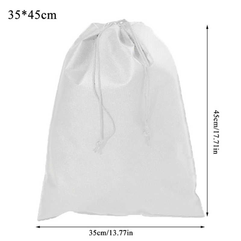 Dokunmamış kumaşlar İpli çanta spor rahat sırt çantası paket cep siyah beyaz ayakkabı çanta erkekler kadınlar için öğrenciler