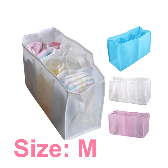 Portable Baby Stuffs Nappy Organizer Travel Outdoor Infant Diaper Feeding-bottle Insert Storage Bag Random Color