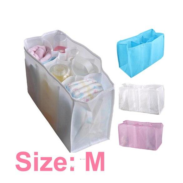 Portable Baby Stuffs Nappy Organizer Travel Outdoor Infant Diaper Feeding-bottle Insert Storage Bag Random Color