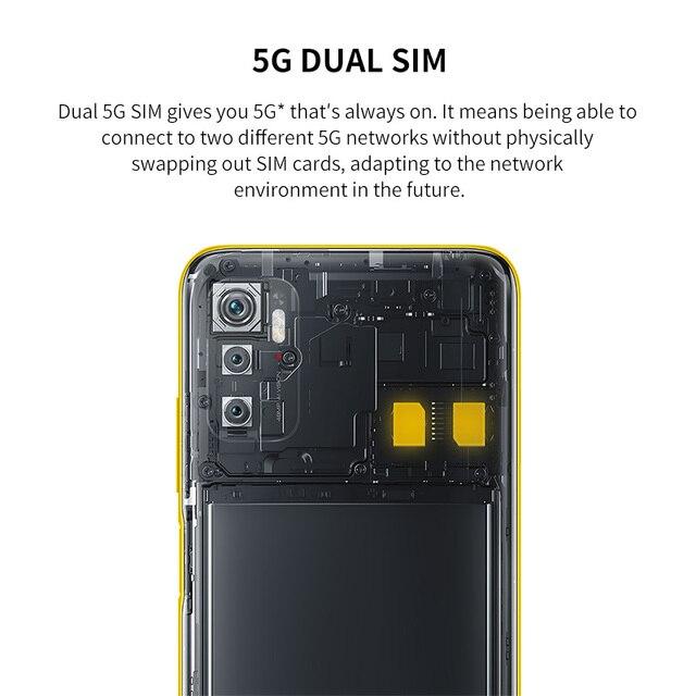 POCO M3 Pro 5G Global Version NFC Smartphone 4+64/6+128 Dimensity 700 Octa Core 90Hz FHD+DotDisplay 5000mAh 48MP Triple Camera 3