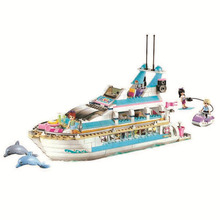 Locking Friends Dolphin Yachts 661Pcs Bricks Set Sale Cruiser 3D Building Blocks Toys For Children Compatible Friend Blocks single sale modok george tarleton from hulk lab smash set building blocks super heroes bricks action toys for children kf918