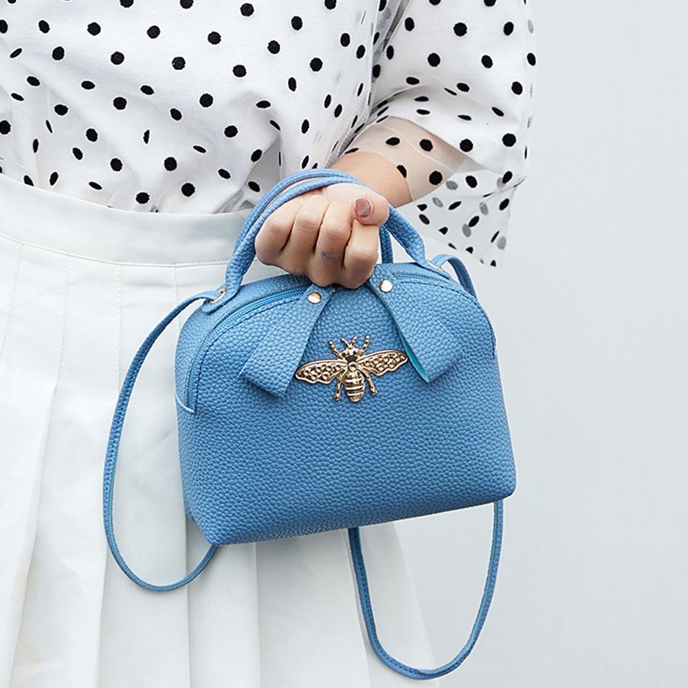 Female Casual Single-shoulder Bag Fashion Cute Bee Purses And Handbags PU Leather Phone Coin Bag Crossbody Bags For Women