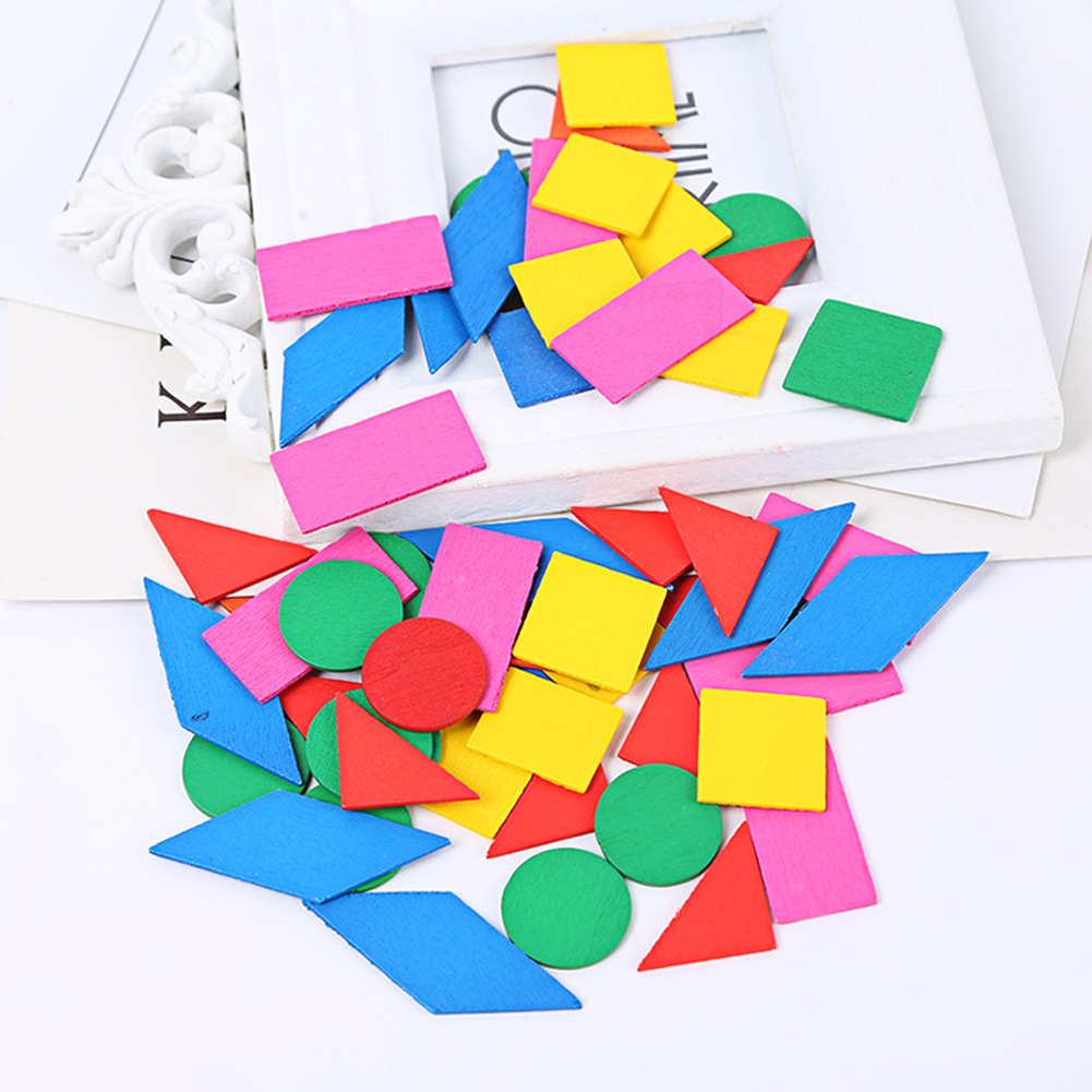 Wooden Colorful Round Geometric Chips Math Teaching Aids Educational Kids Toy NEW