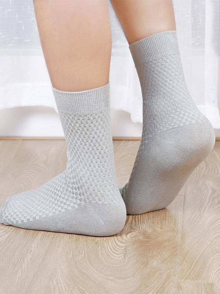 Compression Socks Deodorant Bamboo-Fiber Business Breathable Long Big-Size 10-Pairs Men