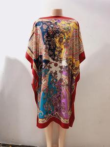 Image 1 - Dress Length:100cm Bust:140cm  African Dashiki New Fashion Design short dress oversized Plus Famous Brand Loose For Lady/women