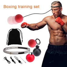 Hot Boxing Punch Exercise Fight Ball with Head Band for Reflex Speed Sport Fitness Equipment Training MVI-ing