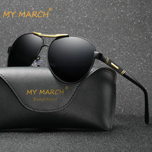 MYMARCH Aluminum Polarized Sunglasses Men 2019 Vintage Cool Pilot Sun Glasses For Retro Goggles Mirror Oculos De Sol UV400