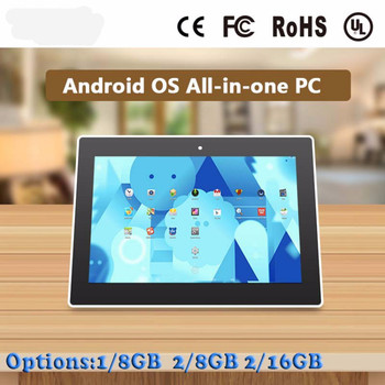 high quality lcd advertising display stand touch screen all in one pc android 10.1