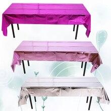 Водонепроницаемый блестящий фольга вечерние розовое золото скатерть крышка стола прямоугольная скатерть на день рождения свадьба день рождения скатерть