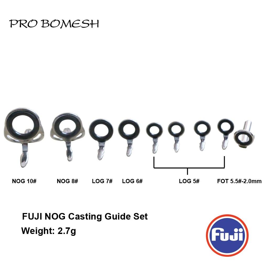 PRO BOMESH FUJI Guide and Top 9pcs Set NOG LOG Guide FOT Top Casting Guide Set Rod Building component Repair fishing pole DIY|Fishing Rods| |  - title=