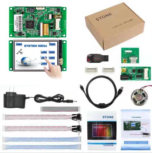 3,5 дюймовый HMI ЖК-дисплей модуль с программой + сенсорный экран для управления оборудованием