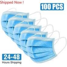 N95 Face Mask 100 Pcs Surgical Mask Anti-virus Respirator Disposable Mouth Masks 3 Layer FFP3 KF94 Elastic Earloop Masks