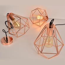 Современный промышленный винтажный подвесной светильник в клетку, железный художественный потолочный светильник, абажур для бара, кофейни, спальни, гостиной