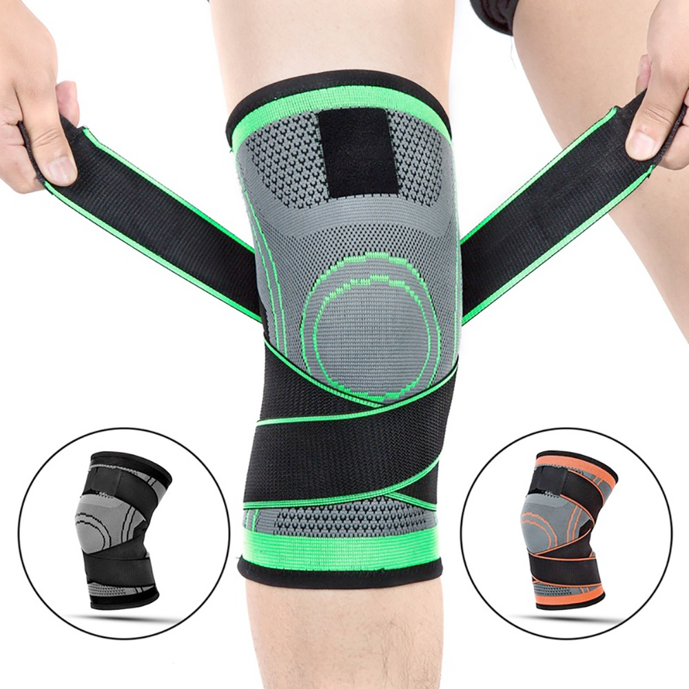 Dropshipping 2020 Knee Support Professional Protective Running Fitness Basketball Sports Breathable Bandage Tennis Cycling Knee