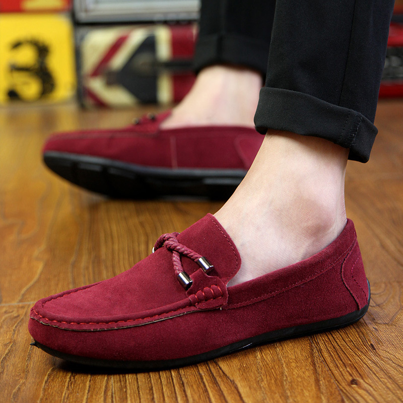 2020 New Summer NEW Men's Loafers Comfortable Flat Casual Shoes Men Breathable Slip-On Soft Leather Driving Shoes Moccasins