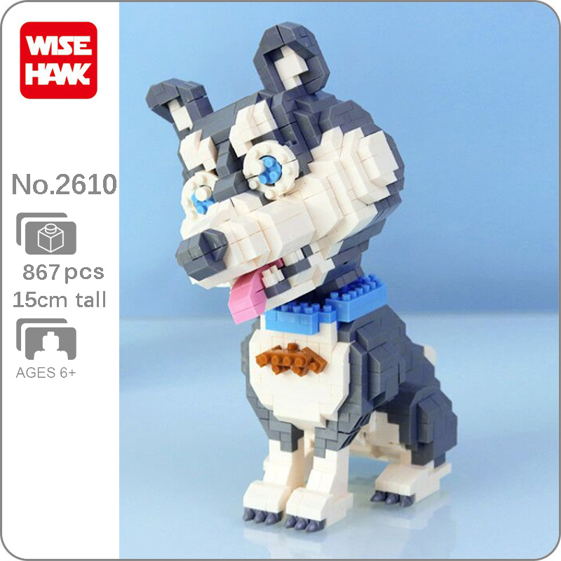 Weagle 2610 Siberian Husky Dog Animal Pet DIY Mini Diamond Blocks Building Toy