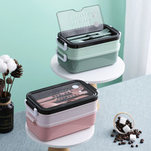 1100 Ml Protection Lunch Box Bento Box for School Kids Office Worker 2 Layers Microwae Heating Lunch Container Food Storage Box