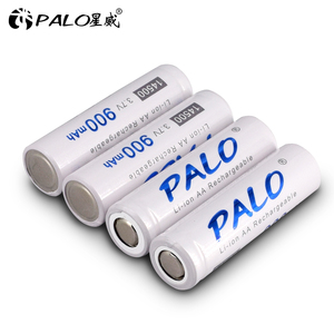 PALO 1~16 14500 900mAh 3.7V Li-ion Rechargeable Batterie AA Accumulator Battery Lithium Cell for Flashlight Headlamp Torch Mouse